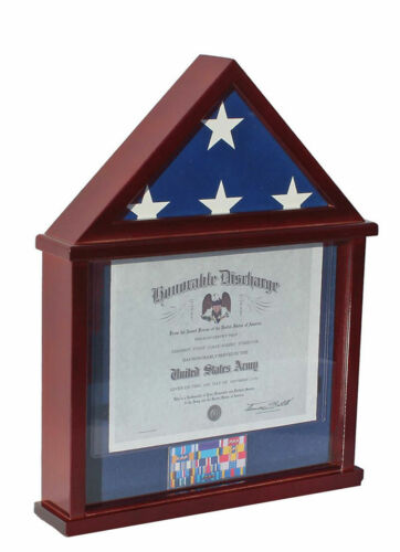 Flag Display Case Military Shadow box for Small 3