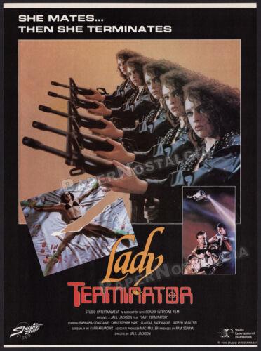LADY TERMINATOR__Original 1989 Trade Print AD / advert__BARBARA ANNE CONSTABLE