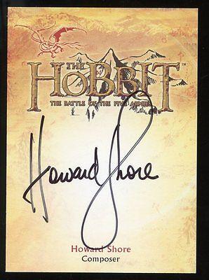 The Hobbit Battle of the Five Armies Composer AUTO Autograph - Howard Shore
