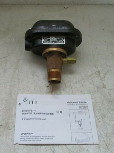McDonnell Miller FS7-4W Water-Tight Liquid Paddle Flow Switch 300 Psi 115/230Vac