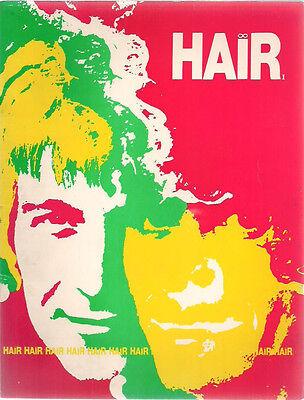 HAIR vintage illustrated Souvenir Program (circa 1969)