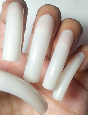 ~BUY2GET1FREE! NATURAL EXTRA LONG Curve 20pc False Square Nails Full Cover -