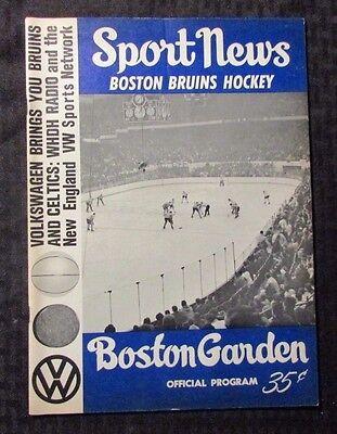 1966 Sport News Boston Bruins Hockey Magazine Vg  4 5 Boston Garden Program