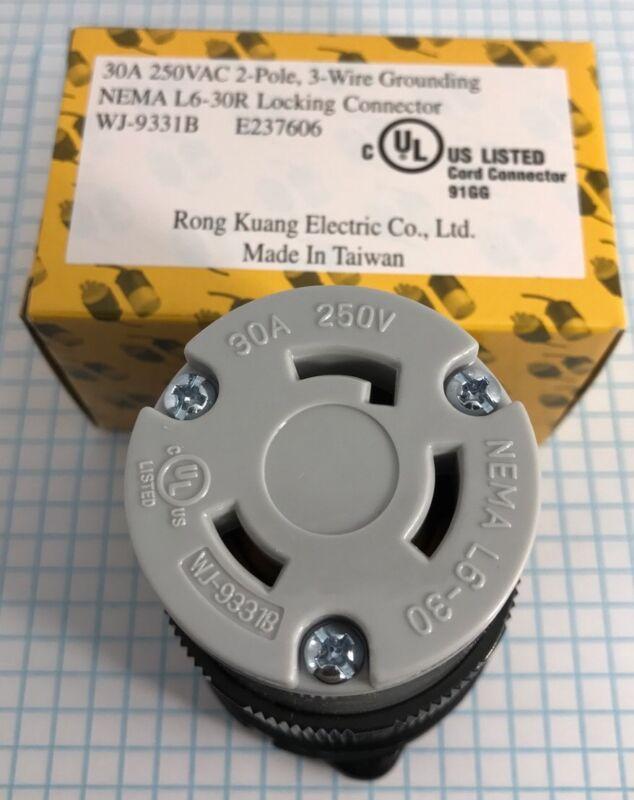 High Quality NEMA L6-30R Female Locking connector, UL listed