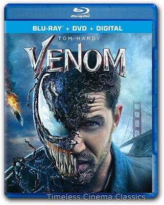 Venom Blu-ray / DVD New Tom Hardy Michelle Williams Riz Ahmed