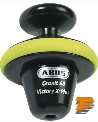 ABUS MOTORCYCLE SECURITY GRANIT VICTORY 68 YELLOW VOLL DISC LOCK 14mm new