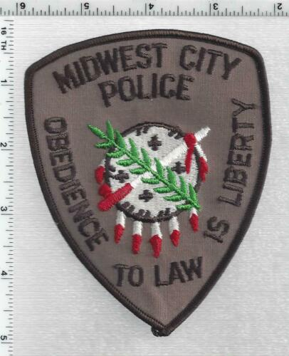 Midwest City Police (Oklahoma) 3rd Issue Shoulder Patch