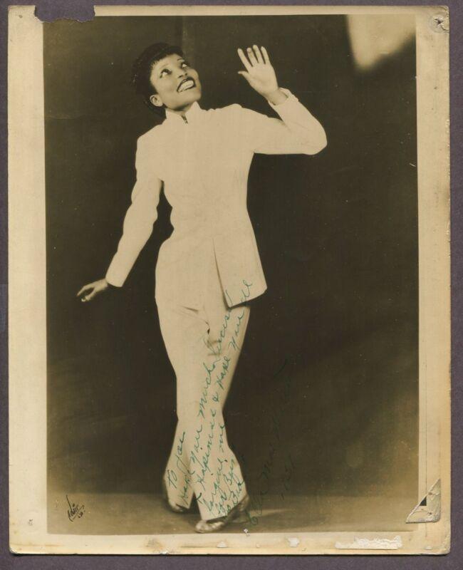 Black Vaudeville 1937 Unidientified Actress Ella Mae? DBL WT Theatre Play J6202