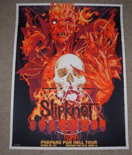 SLIPKNOT concert gig tour poster Red Variant 12-3-14 2014 CAMDEN vance kelly