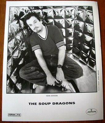 The Soup Dragons 8x10 B&W Press Photo Mercury Records Sean Dickson