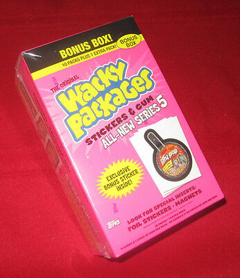 WACKY PACKAGES ANS5 SEALED BONUS BOX IN EXCELLENT CONDITION   @@  SOLD OUT  @@