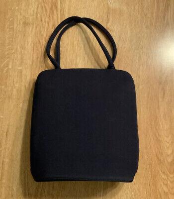 1940s Handbags and Purses History Vintage Garay Dark Blue 1940's Evening Bag with Gold Tone Frame, Snap Closure $40.00 AT vintagedancer.com