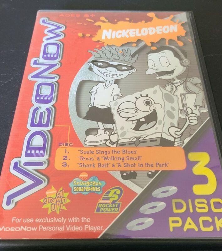 VideoNow 3 Pack Rugrats All Growed Up Nickelodeon, SpongeBob, Rocket Power 2003