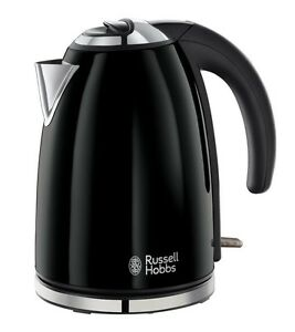 Russell-Hobbs-Colours-Electric-Kettle-Stainless-Steel-1-7-L-Jet-Black-New