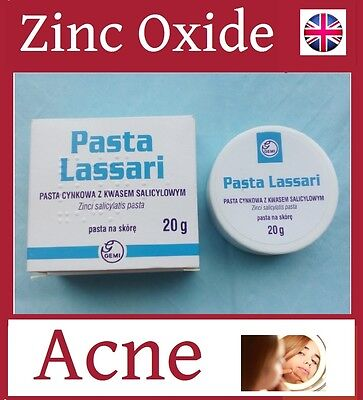 Non-greasy 25% Zinc oxide Acne treatment Skin Inflammation Cream Paste 20g