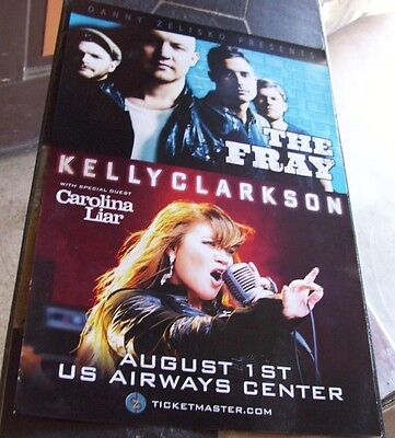 ORIGINAL THE FRAY KELLY CLARKSON  LIVE   PHX AZ CONCERT    POSTER 17 X 11