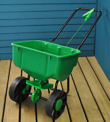 Lawn Rotary Broadcast Spreader Feed Fertilizer Seed and Sand (27 Litre Capacity)