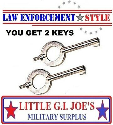 Handcuff Keys 2 Universal For Peerless Sw Rothco Read Description Below