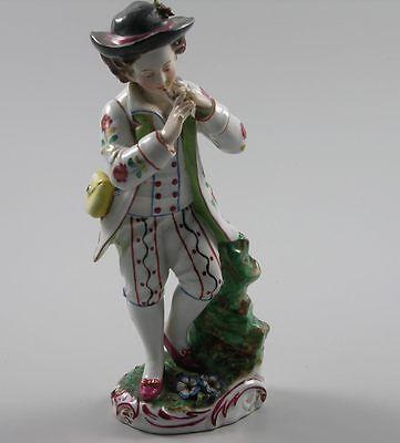 Wien Porzellanfigur Flötenspieler um 1800 bestoßen
