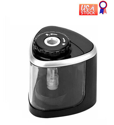 Mini Pencil Sharpener Automatic Electric Office School Kids Battery Operated