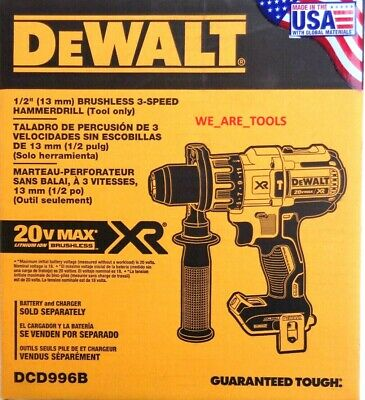 NEW IN BOX DeWalt DCD996B 20V Max XR Brushless Cordless 1/2 Hammer Drill 20 Volt