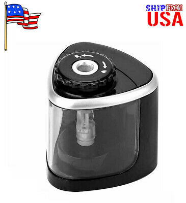 Electric Pencil Sharpener Automatic Battery Operated Switch School Classroom