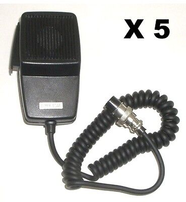 LOT OF 5 WORKMAN DM507-4 REPLACEMENT CB RADIO MICROPHONE 4-PIN COBRA/UNIDEN