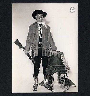 FRED GORDON Cowboy / Zirkus Circus Rifle * Werbe-Foto um 1975 #2