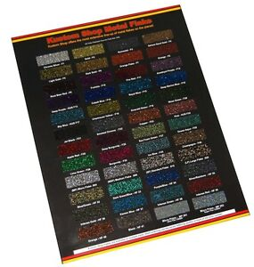 Custom Shop Metal Flake CHIP COLOR CHART Auto Car Paint Gun Custom Shop HOK PPG