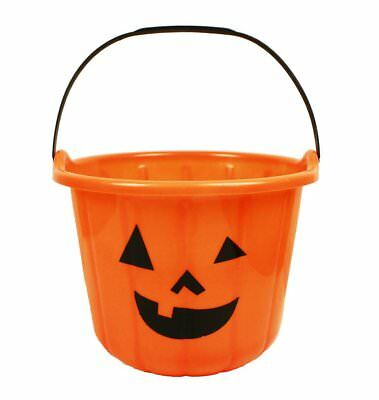 er Kürbis Halloween Größe 22 cm x 18 cm Farbe orange (Kunststoff Kürbis Eimer)