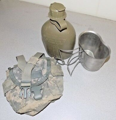 Canteen Cup and MOLLE Pouch USGI Military Issue 1Qt ACU Army VGC