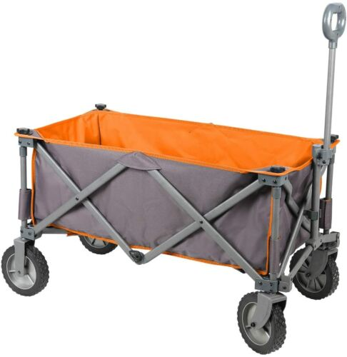 Collapsible Folding Utility Wagon Quad Compact Outdoor Garden Camping Cart