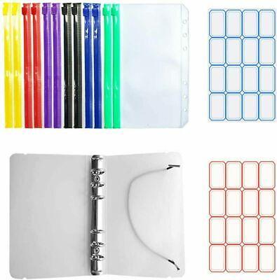 Plastic Clear Binder Envelopes Loose Leaf Bags A6 Budget Envelope Binder Cover