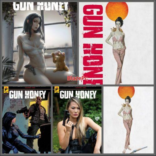 Gun Honey #2 Cover A B C D E Variant Set Options FOC Titan Comics Presale 10/20