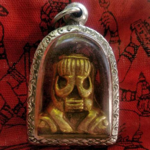 PRA  LP Pita Arem-Monk-Wat Nunk Rare -Talisman-Mercy-Thai-Buddha-Amulet A