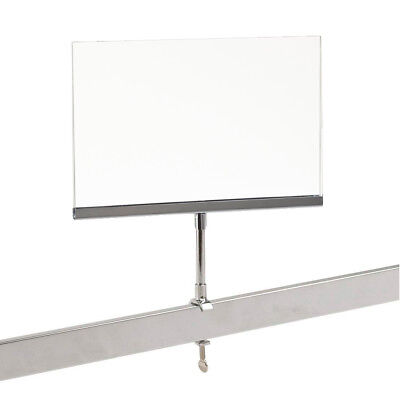 Universal Retail Rack Acrylic Frame Clamp On 7 X 11 Sign Holder Card Display