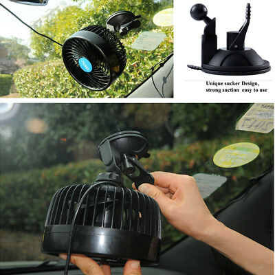1x Electric Car Cooling Fan Adjustable Strong Wind Low Noise with Sucker Summer