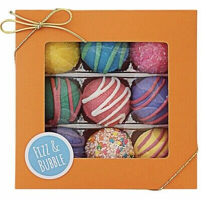 NEW Fizz & Bubble Bath Bomb Fizzy Truffles Fruit & Floral Box Assorted 9 Count ()
