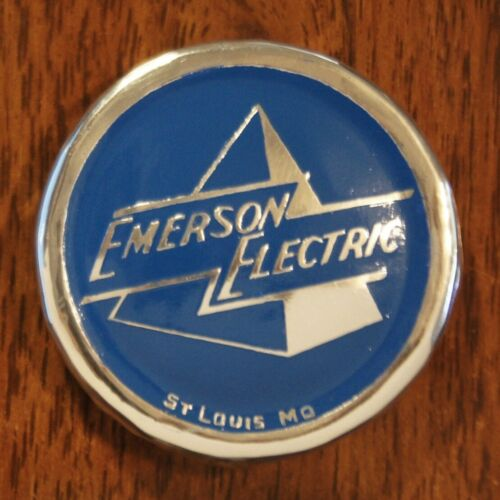 Emerson Pyramid Fan Cage Badge, Aluminum Reproduction
