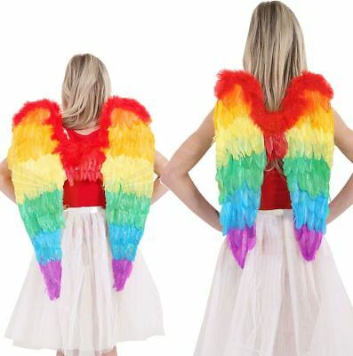 Fancy Rainbow Foldable Fairy Angel Wings Pretty Girls Party Wear Dress Accessory - Pretty Fairy Wings