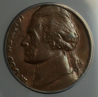 Click now to see the BUY IT NOW Price! 1980 P JEFFERSON NICKEL 5C COIN STRUCK ON PENNY CENT 1C BLANK ANACS AU 55