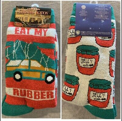 NWT 2pk National Lampoons Christmas Vacation Movie Women Socks Holiday Gift Tree ()