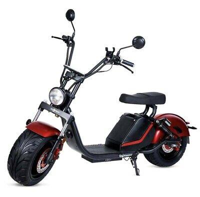 Moto electrica scooter matriculable 1500w 60v 20Ah bateria CityCoco roja/negra