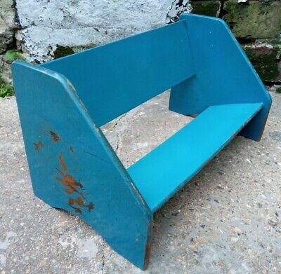 Vintage Petite Blue Lacquer Wooden Book Stand Dragon Design