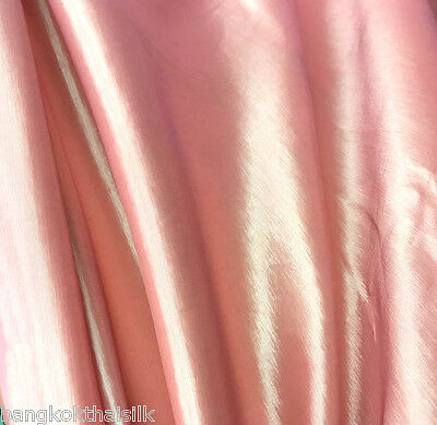 Golden Pink Stretch Taffeta Faux Silk Fabric Material Wedding Dress Drape Skirts