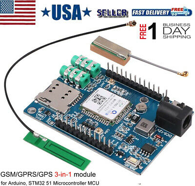 Gsm Gprs Gps Module 3 In 1 Quad Band Ipex Antenna Dc 5-9v For Arduino Stm32 Gps
