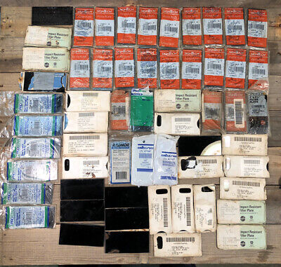 55 Pc Lot Welding Shade Filter Lens Goggles Lenses New Old Stock Nos