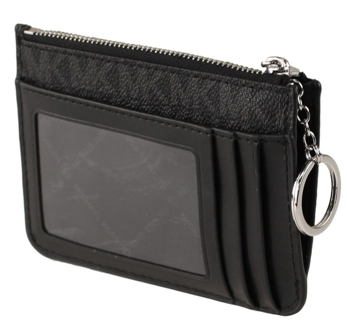 Michael Kors Jet Set Travel Small Top Zip Coin Pouch ID Holder Key Ring Wallet