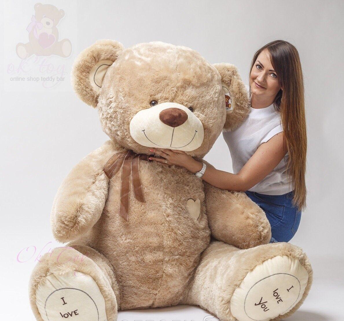Teddybär 190 cm BIG XXL Riesen Kuscheltier Stofftier Plüschtier Geschenk