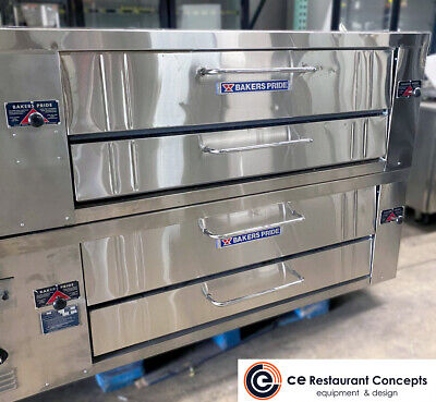 New Model Bakers Pride Y602 Double Stack Pizza Deck - Natural Gas -or Propane